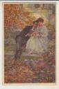 miniature cpa  Couple romantique en automne . Balestrini