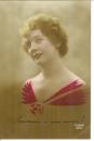 miniature Cpa Fantaisie  , jolie jeune Femme - souvenir d'une amie