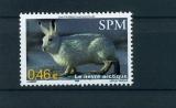 miniature Saint Pierre et Miquelon 782 animaux lièvre neuf ** TB MNH SIN charnela faciale 0.46