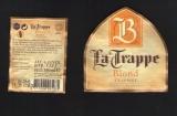Etiquette Bière Beer Label LA TRAPPE Blond Trappist PAYS BAS