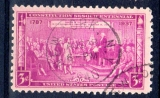 miniature ETATS UNIS 1937  3c - used - Constitution