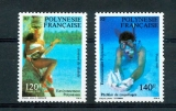 miniature Polynésie 331 332 1989 environnement neuf ** luxe MNH sin charnela cote 6.7