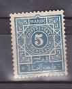 miniature MAROC 1917-26 Y& T N° TAXE 28 Oblitéré