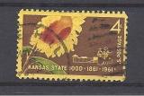 USA 1961 / KANSAS STATEHOOD   / TOURNESOL