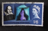 GB 1964 Shakespeare    1S6D YT 385 / SG 649
