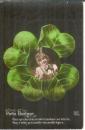 miniature Cpa Jeune femme , ww1 , trèfle porte bonheur , voyagée 1914