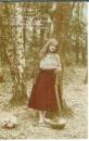 miniature Cpa Jeune femme dans la forêt - mandoline , ww1 , voyagée 1917 * cher Ami