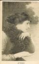 miniature  Cpa Portrait de femme romantique , Automne