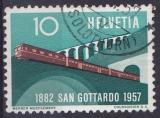 SUISSE 1957 OBLITERE N° 587 train
