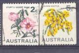 miniature Australie 1970 YT 447 et 414 Fleur Rose desert de Sturt - Acacia