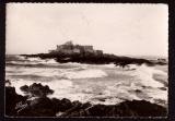 miniature France Cpsm St Malo (35) Le Fort National par marée montante