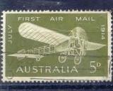 miniature Australie 1964 YT PA12 Obl Cinquantenaire vol Melbourne Sydney Monoplan Bleriot