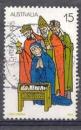 miniature Australie 1975 YT 580 Obl Noel Visite des rois mages par O Brien