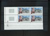 miniature Saint Pierre et Miquelon 476 personnage dunant bloc de 4 coin daté 12 2 1987 1 trait neufs TB**