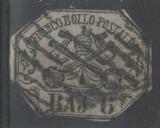 miniature Etat de l'Eglise 1852 - 6 bajocchi (cv 100)