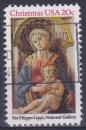 miniature ETATS UNIS 1984 oblitéré N° 1554 Noël