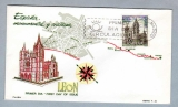 miniature Espagne España FDC Primer dia 1964 - España, monumental y cristiana - Catedral de Leon