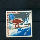 miniature MONACO 733 1/4 de cote SPORTS DE GLISSE JO 1967  neuf ** TB MNH SIN CHARNELA cote 1.8
