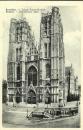 miniature cp Bruxelles - Belgique , I'église Sainte Gudule , écrite 1981 - flamme comité antituberculeux