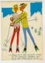 miniature Cpm Humour  Le Ski , par Colline
