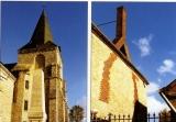 miniature CaB 2004-4 - Le monument aux morts- le clocher et cheminée à deux conduits à THEUVILLE -28  -