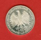 miniature RFA -  5 Mark - Carl Friedrich Gauss - Argent - 1977