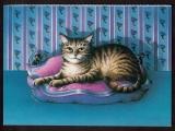 France carte postale Cpm Jean-Paul Barthe It's my Cushion ! to benefit UNICEF  circulé