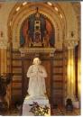 miniature cpsm 01 Ars , statue du curé d'Ars , ( cabuchet ) dans la chapelle