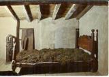 miniature cpsm 01 Ars , lit brûlé du saint curé