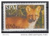miniature Saint Pierre et Miquelon 820 faune renard neuf ** TB MNH SIN charnela prix de la poste 0.5