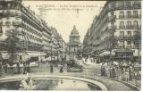 miniature cpa 75 Paris , La rue Soufflot et le Panthéon , fiacres - automobile , voyagée 1925
