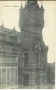 miniature cpa 59 Loos , ww1 , la mairie , voyagée 1919