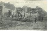 miniature cpa 54 Mont sur Meurthe , ww1 , soldats dans les ruines après le bombardement