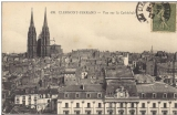 miniature cpa 63 Clermont Ferrand , Vue sur la cathédrale , voyagée 1919