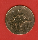 miniature France - 1917 - 10 cent - République de Dupuis - Bronze