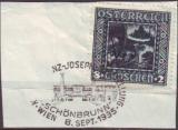 miniature Autriche.1926.N° 369(o).Légende des Niebelungen.Sur fragment.