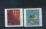 miniature Nouvelle Calédonie 585 586 1989 tableaux neufs ** TB MNH sin charnela faciale 3.35
