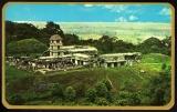 miniature MEXICO MEXIQUE : Palenque Palacio / Timbre correo aereo arquitectura colonial (estampilla)