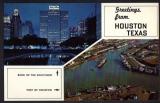 miniature Etats-Unis - Greetings from Houston Texas ( Bank of the Southwest - Port ) 1964