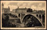 miniature LUXEMBOURG - LUXEMBURG - Le Pont Adolphe ( circulée en 1936 avec timbre )
