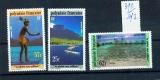 miniature Polynésie 390 392 1991 pêche aux cailloux  neufs ** TB MNH faciale 1.2