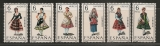 Espagne  Costumes féminins année 1969  1575/1580** 6 timbres neufs sans charnière