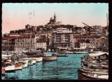 miniature  France Cpsm Marseille Un Coin du Port - timbre Y&T 1106 Le Quesnoy - flamme Pour Marseille ....