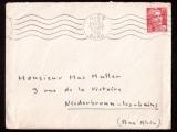 miniature  France 1949 Y&T 813 o M de Gandon 15F seul sur Lettre datée du 23 sept 50