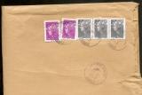 France  2013 Beaujards 100 g x 2 + 0,10 euro x 3  sur enveloppe entière