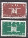 miniature FRANCE N° 1396 1397 ° EUROPA 1963