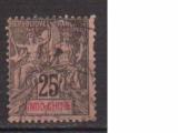 miniature INDOCHINE     N  ° 10    ( 2 )       OBLITERE