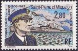 miniature Saint-Pierre et Miquelon 1994 Hommage au Commandant Louis Blaison 1906-1942 - Y&T 592 **