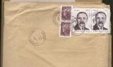 France  2012 Timbre Henri Queuille 1,00 € x 2  + beaujard sur lettre