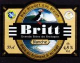 miniature France Bière bretonne Britt Blanche (étiquette neuve)